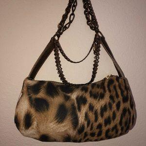 Roberto Cavalli Chain Strap Double Pouchette Bag